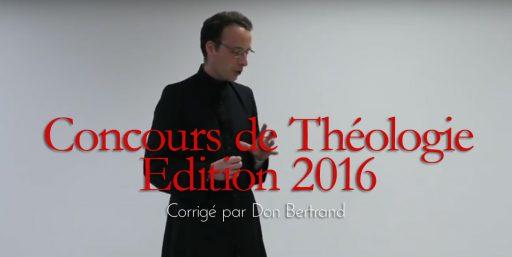 Concours de Théologie 2016 : le corrigé