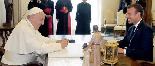 Le pape François a reçu le président de la république française